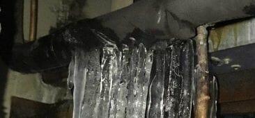 frozen burst pipe